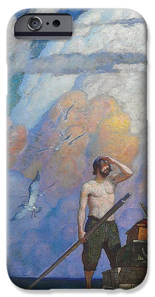 Robinson Crusoe IPhone Case by Newell Convers Wyeth