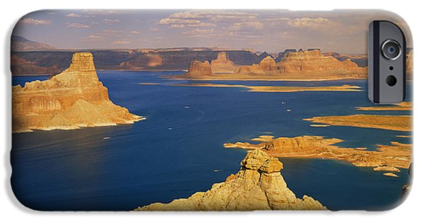 Rock Formations At A Lake, Gunsight IPhone Case by Panoramic Images
