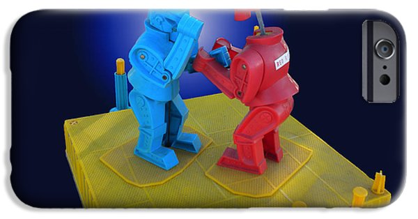 Rockem Sockem Robots Toy IPhone Case by Thomas Woolworth