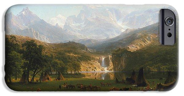 Rocky Mountains IPhone Case by Albert Bierstadt
