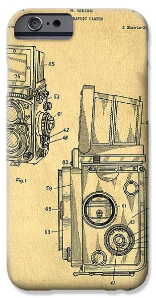 Rolleiflex Medium Format Twin Lens Reflex Tlr Patent IPhone Case by Edward Fielding