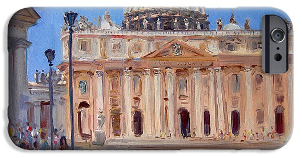 Rome Piazza San Pietro IPhone Case by Ylli Haruni