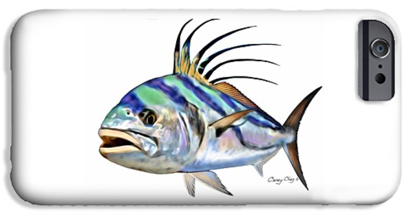 Roosterfish Digital IPhone Case by Carey Chen