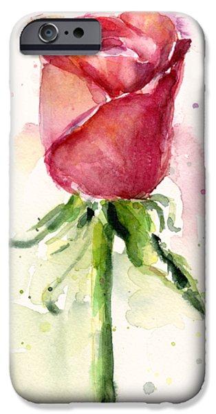 Rose Watercolor IPhone 6s Case by Olga Shvartsur