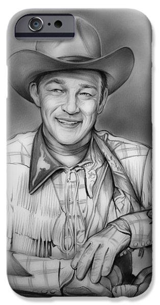 Roy Rogers IPhone Case by Greg Joens