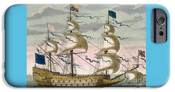 Royal Flagship Of The English Fleet IPhone Case by Pierre Mortier