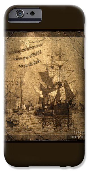 Rum Is The Reason IPhone Case by John Stephens