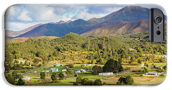 Rural Landscape With Mountains And Valley Village IPhone Case by Jorgo Photography - Wall Art Gallery