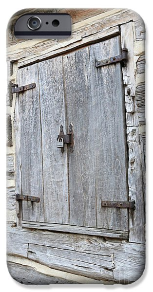 Rustic Cabin Window IPhone Case by Carol Groenen