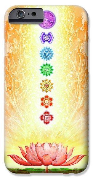 Sacred Lotus - The Seven Chakras IPhone Case by Dirk Czarnota