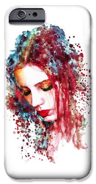 Sad Woman IPhone Case by Marian Voicu