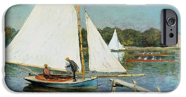 Sailing At Argenteuil IPhone Case by Claude Monet