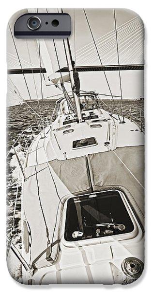 Sailing Sailboat Charleston Sc Bridge IPhone Case by Dustin K Ryan
