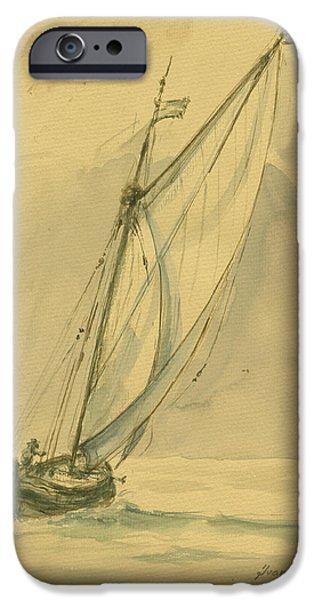 Sailing Ship IPhone Case by Juan Bosco
