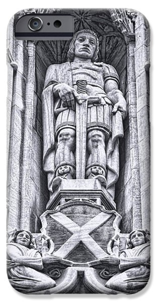 Saint Alban Statue IPhone Case by Diana L Elliott