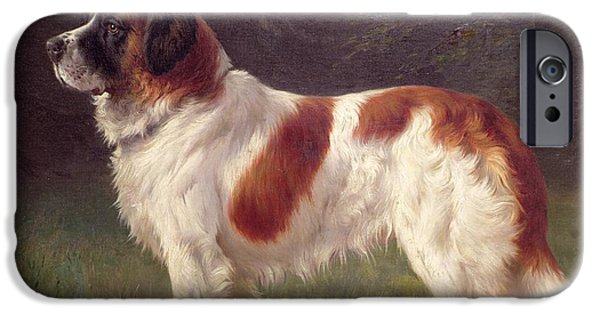 Saint Bernard IPhone Case by Heinrich Sperling