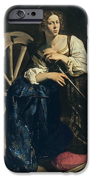 Saint Catherine Of Alexandria IPhone Case by Caravaggio