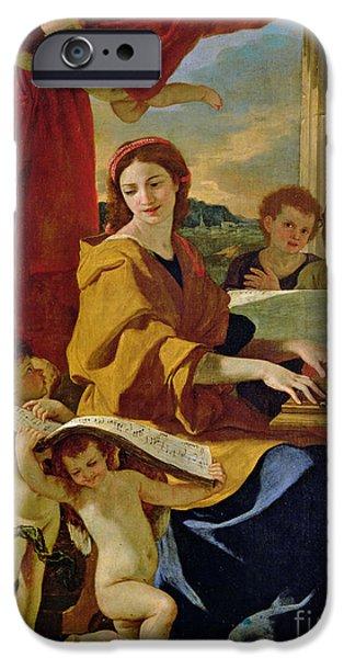 Saint Cecilia IPhone Case by Nicolas Poussin