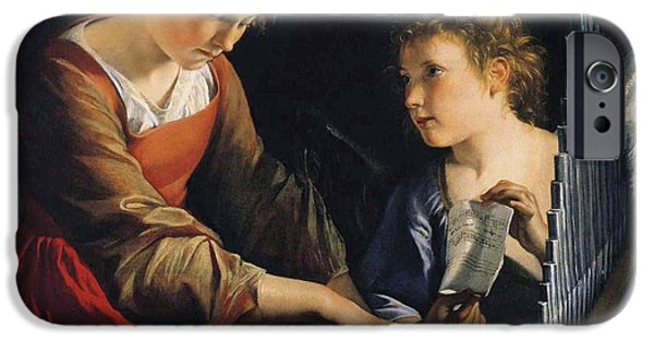 Saint Cecilia With An Angel IPhone Case by MotionAge Designs