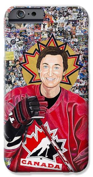 Saint Gretzky IPhone Case by Steven Hart