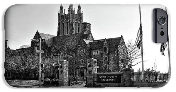 Saint Josephs - Philadelphia Pennsylvania In Black And White IPhone Case by Bill Cannon