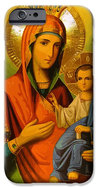 Saint Mary IPhone Case by Christian Art