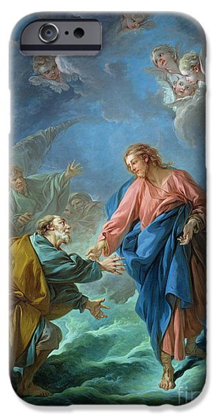 Saint Peter Invited To Walk On The Water IPhone Case by Francois Boucher