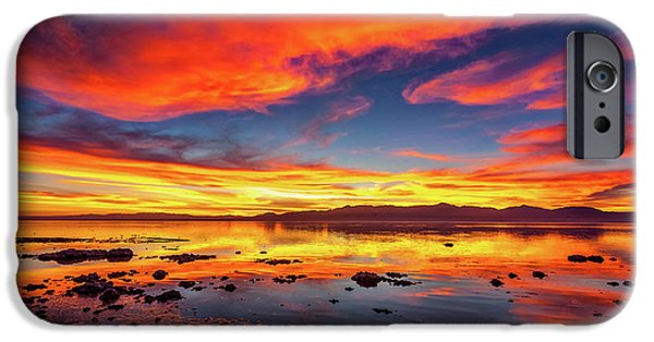Salton Sea Sunset IPhone Case by Peter Tellone