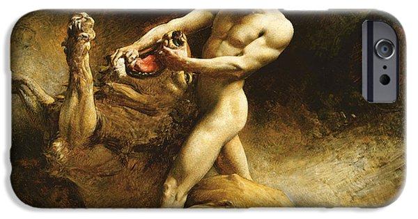 Samson's Youth IPhone Case by Leon Joseph Florentin Bonnat