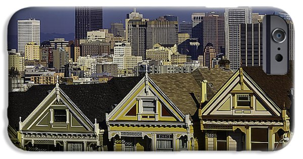 San Francisco And Victorian Houses IPhone Case by Garry Gay