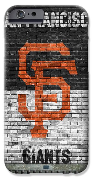 San Francisco Giants Brick Wall IPhone Case by Joe Hamilton