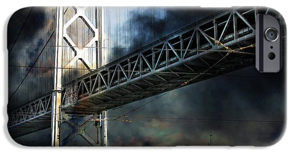 San Francisco Nights At The Bay Bridge 7d7748 Square IPhone Case by Wingsdomain Art and Photography