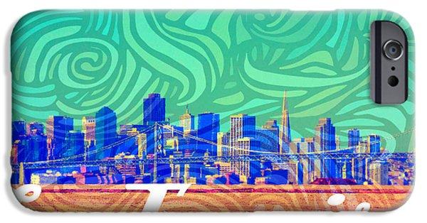 San Francisco Postales IPhone Case by Michelle Dallocchio