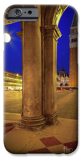 San Marco At Night IPhone Case by Inge Johnsson