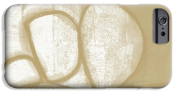 Sand And Stone 1- Contemporary Abstract Art By Linda Woods IPhone Case by Linda Woods