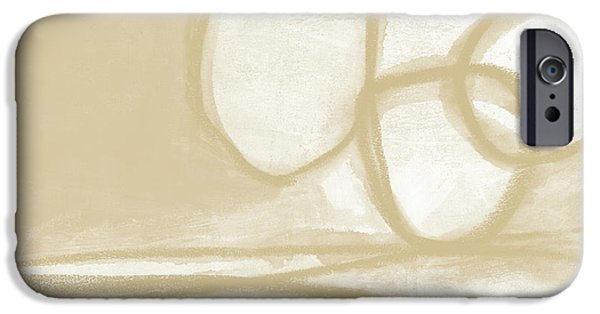 Sand And Stone 6- Contemporary Abstract Art By Linda Woods IPhone Case by Linda Woods
