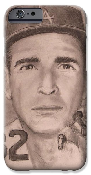 Sandy Koufax IPhone Case by Jack Skinner