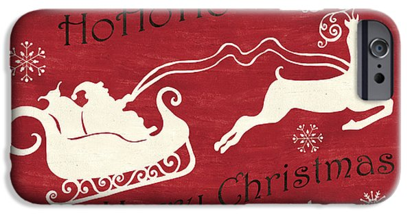 Santa And Reindeer Sleigh IPhone Case by Debbie DeWitt