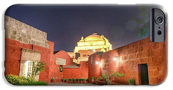 Santa Catalina Monastery Courtyard At Night IPhone Case by Jess Kraft
