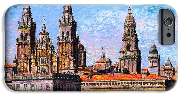 Santiago De Compostela, Cathedral, Spain IPhone Case by Jane Small