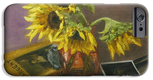 Sargent And Sunflowers IPhone Case by Lisa  Spencer