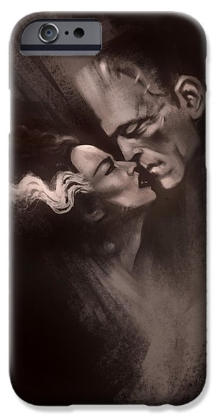 Scarred Lovers IPhone Case by Alex Ruiz