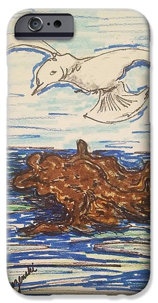 Seagull Flying IPhone Case by Geraldine Myszenski