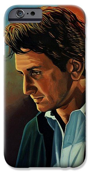 Sean Penn IPhone Case by Paul Meijering