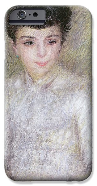 Seated Portrait Of A Young Girl With Brown Hair IPhone Case by Pierre Auguste Renoir