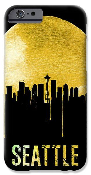 Seattle Skyline Yellow IPhone 6s Case by Naxart Studio