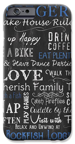 Seeger Lake House Rules IPhone Case by Debbie DeWitt
