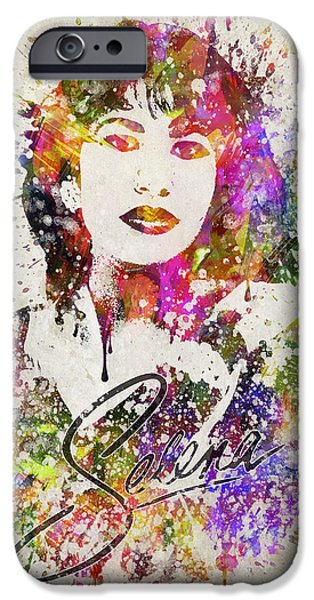 Selena Quintanilla In Color IPhone Case by Aged Pixel