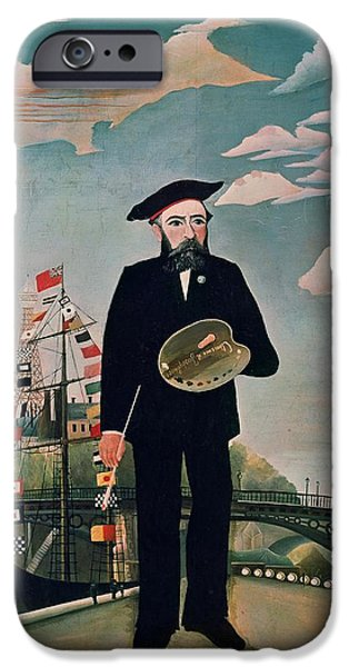 Self Portrait From Lile Saint Louis IPhone Case by Henri Rousseau