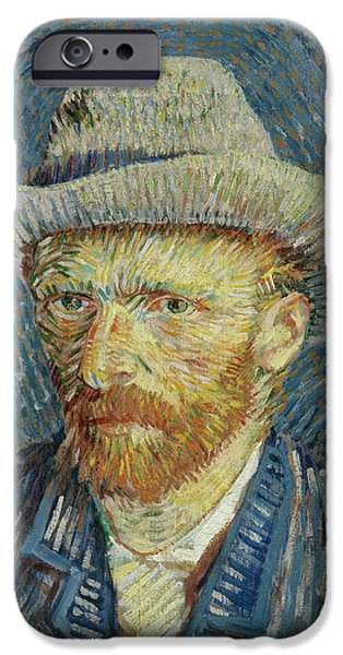 Self-portrait With Grey Felt Hat IPhone Case by Vincent van Gogh